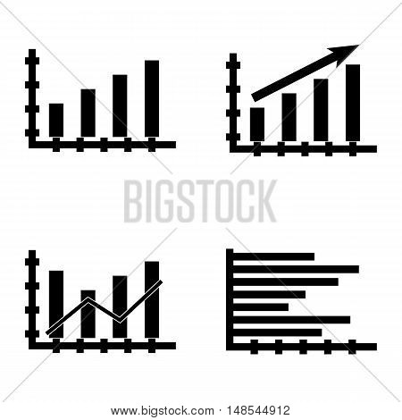 Set Of Statistics Icons On Dynamics Graph, Bar Chart, Statistics Growth And More. Premium Quality Ep