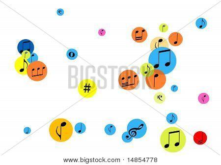 Abstrakte Musik Hintergrund