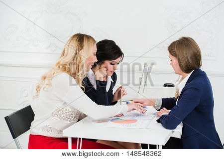 Casual business team having a meeting in the office.