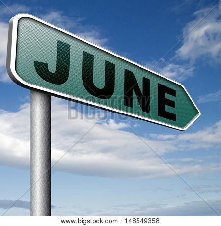 june late spring early summer next month event calendar  3D, illustration