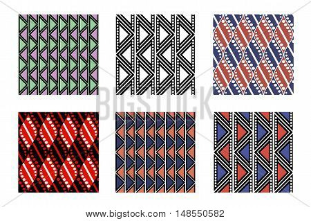 Set Of Vector Seamless Patterns
