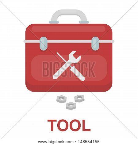 Toolbox icon cartoon. Single silhouette plumbing symbol.