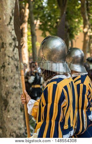 Renaissance Guard-house With Helmet