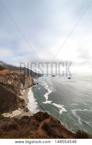Big Sur Coast at the Bixby Creek Bridge, Monterey County, California, USA.