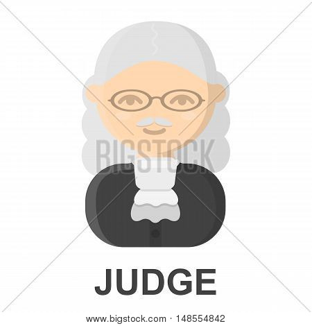 Judge cartoon icon. Illustration for web and mobile.