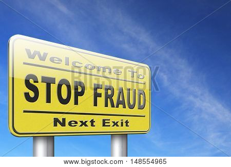 stop fraud bribe and political or police corruption money corrupt cyber or internet crime 3D, illustration