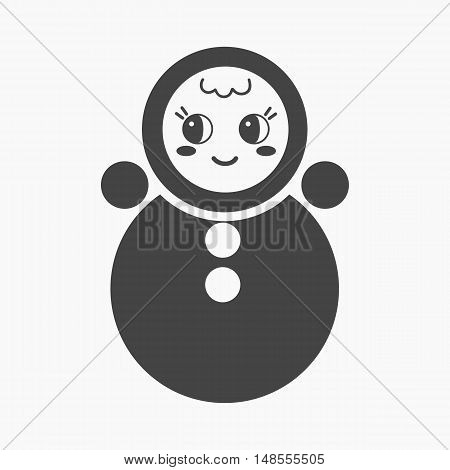 Roly Poly black icon. Illustration for web and mobile.