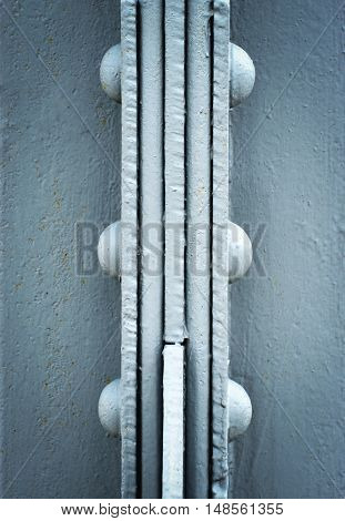 background retro detail riveting joint iron girders