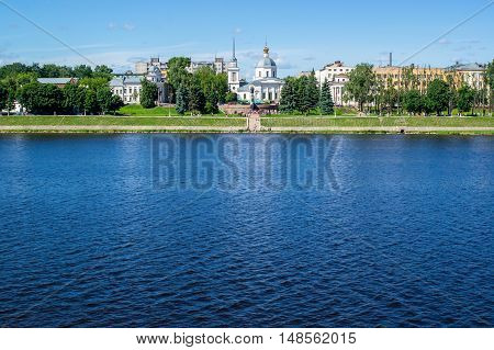 The embankment in the city, the river in the city, a place of interest