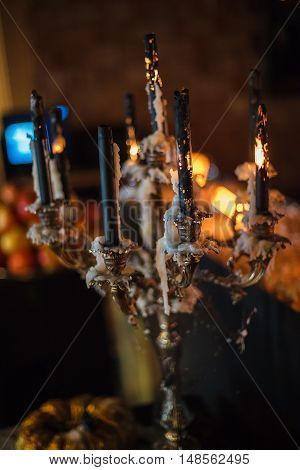 Melting Candles And Pumpkins