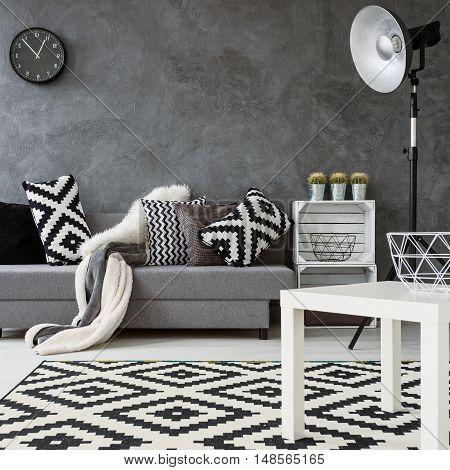 Monochromatic Living Room Idea