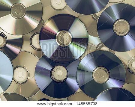 Vintage Looking Cd Dvd Db Bluray Disc