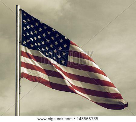 Vintage Looking Usa Flag