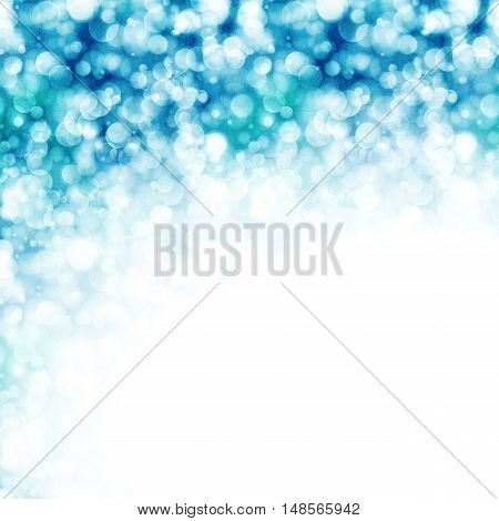 Shiny blue background with sparkling lights, vector illustration
