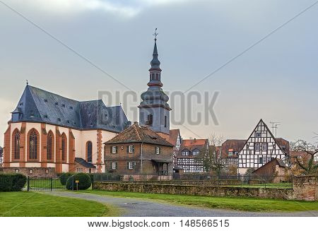 view of The Church of Our Lady in Budingen Germany