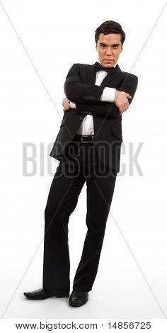 Businessman Looking Down
