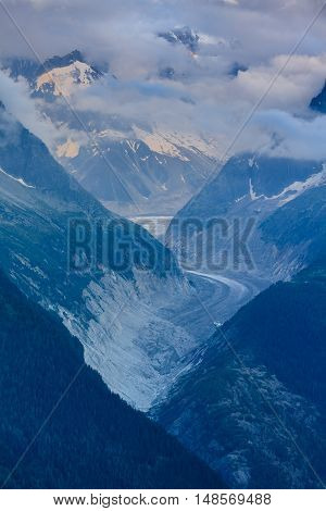 Glacier Mer de Glace Mont Blanc - Chamonix France