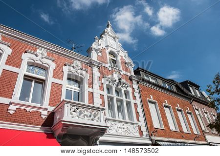 historic red brick house in Kevelaer in Germany