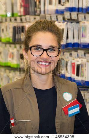 Portrait Of Sales Assistant In Beauty Product Shop