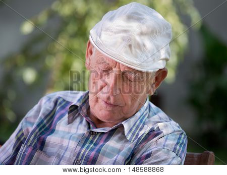 Old Man Napping