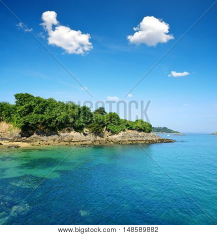 Douarnenez Bay in department of Finistere. Brittany, France