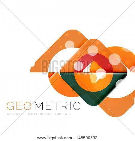Shiny geometric vector abstract background