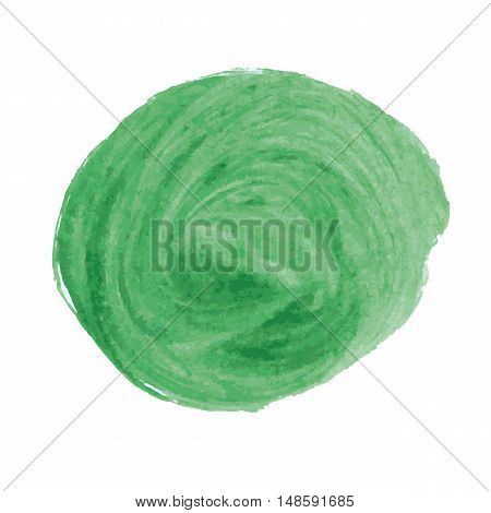 Abstract image of large green spots of round shape.