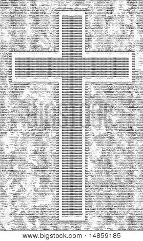 Cross And The Word In Ascii Letter Art