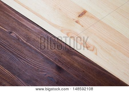Pine and walnut double Wood Texture close up