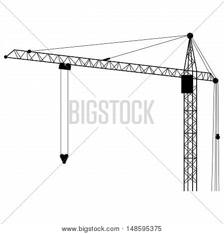 Vector Silhouette Building Tower Crane