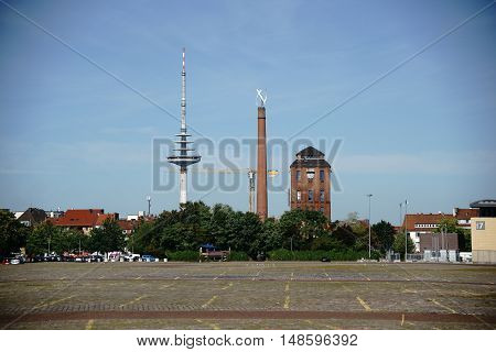 The parking lot Buergerweide in Bremen at the