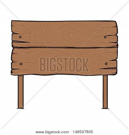 Vector Single Cartoon Wooden Signpost