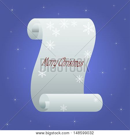 Paper scroll. Paper roll vector illustration.  Merry Christmas
