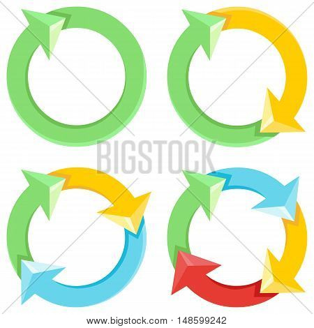 Vector Cycle Of Colorful Arrows