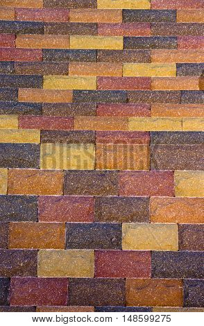 Colored Concrete Paving Slab Texture, Building Material, Background