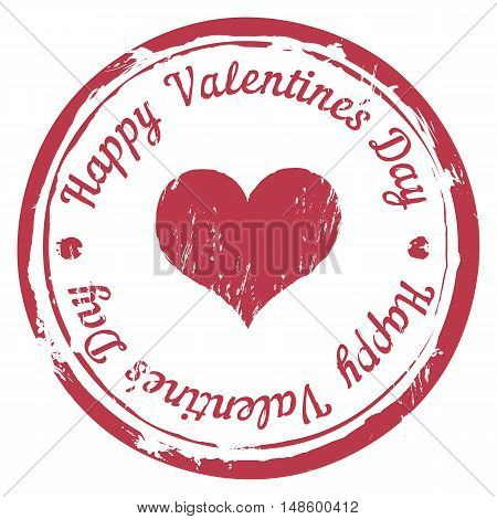 Vector Red Stamp For Valentine's Day