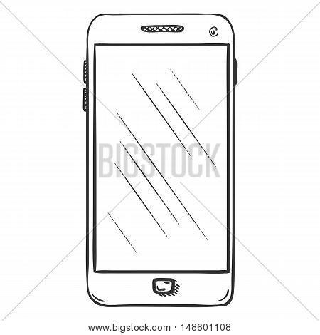 Vector Single Sketch Smartphone