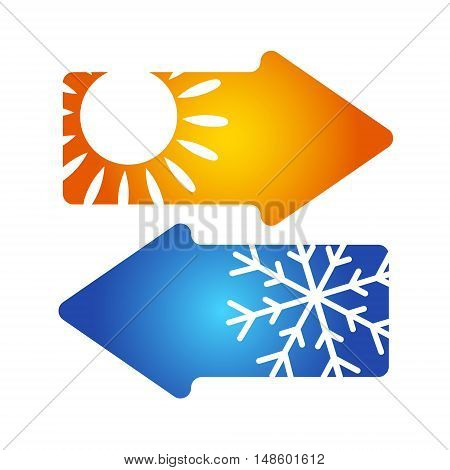 Air conditioning symbol vector for business design