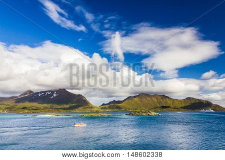 Beautiful view of Lofoten Islands in Norway