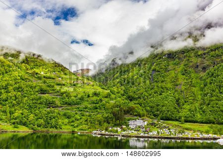 Beautiful view of Geirangerfjord in central Norway