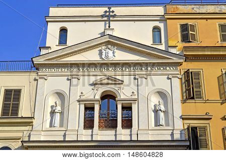 Rome Italy - September 11 2016 : The historical Santa Maria dei Monti church in Rome
