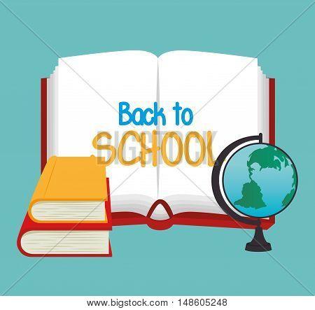 book open globe school graphic vector illustration eps 10