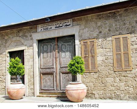 Jaffa Israel - March 22 2012: Ancient House in old city.