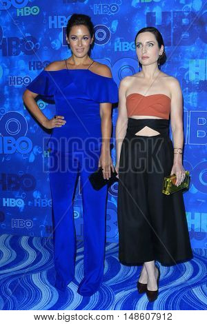 LOS ANGELES - SEP 18:  Angelique Cabral, Zoe Lister Jones at the 2016  HBO Emmy After Party at the Pacific Design Center on September 18, 2016 in West Hollywood, CA