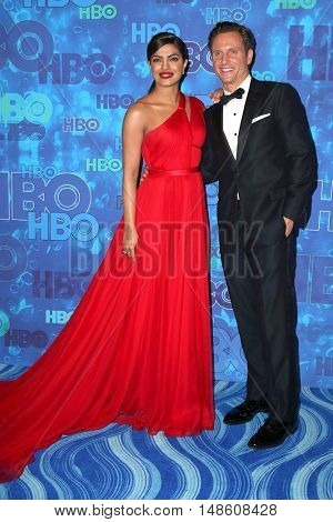 LOS ANGELES - SEP 18:  Priyanka Chopra, Tony Goldwyn at the 2016  HBO Emmy After Party at the Pacific Design Center on September 18, 2016 in West Hollywood, CA