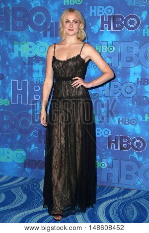 LOS ANGELES - SEP 18:  Sophie Turner at the 2016  HBO Emmy After Party at the Pacific Design Center on September 18, 2016 in West Hollywood, CA