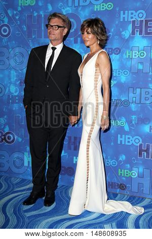 LOS ANGELES - SEP 18:  Lisa Rinna, Harry Hamlin at the 2016  HBO Emmy After Party at the Pacific Design Center on September 18, 2016 in West Hollywood, CA