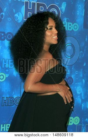 LOS ANGELES - SEP 18:  Kerry Washington at the 2016  HBO Emmy After Party at the Pacific Design Center on September 18, 2016 in West Hollywood, CA