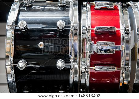 Black And Red Tomtom Drum