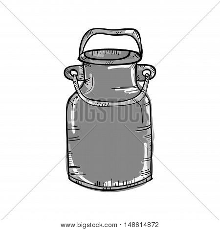 can container for milk beverage drawn design. vector illustration
